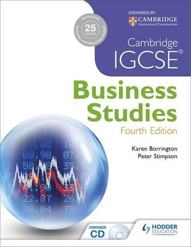 Cambridge Igcse Business Studies by Karen Borrington (2013-07-25)