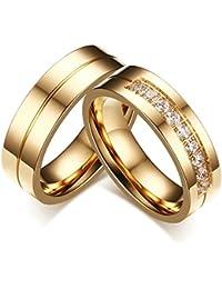 Eheringe gold mit 5 diamanten  Suchergebnis auf Amazon.de für: trauringe edelstahl: Schmuck