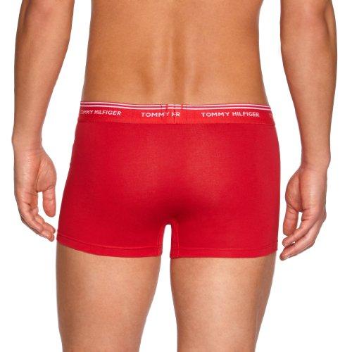 Tommy Hilfiger Herren Boxershort 3 er Pack Classic Stretch Trunk 3Pack / 1U87902157 Mehrfarbig (611 Multi / Tango Red / Bright White / Peacoat)