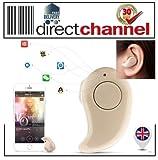 D-Channel S530Mini Wireless Bluetooth Stereo Headset Kopfhörer Kopfhörer Ohrhörer UK beigesk