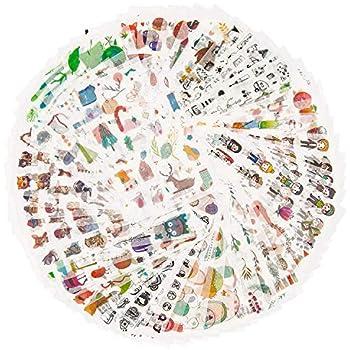 Vintage Stanzformen 64 St/ück Washi Selbstklebende DIY Wandaufkleber Ephemera f/ür Scrapbooking//Buchstaben//Notebook//Karten//Fotorahmen//Tasse mehrere Themen Angel FOONEE Vintage Ephemera Pack