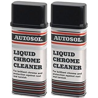 2 x Autosol Liquid Chrome Cleaner Car Care Car Cleaning 250ML Each