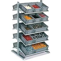 Disset Odiseo FLCA1730152 Estantería Soporte Slick para Cajas, 10 Estantes de 420 mm de Profundidad, 1067 mm x 542 mm x 1817 mm