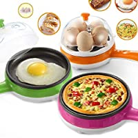 Swabs mini electric 7 egg poacher steamer cooker boiler fryer for egg (color may vary)