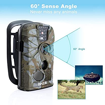 Bestok Trail Camera 12MP HD Wildlife Hunting Infrared Night Vision Motion Activated Waterproof 65ft Detection Range for Outdoor Nature Garden Animal Home Security