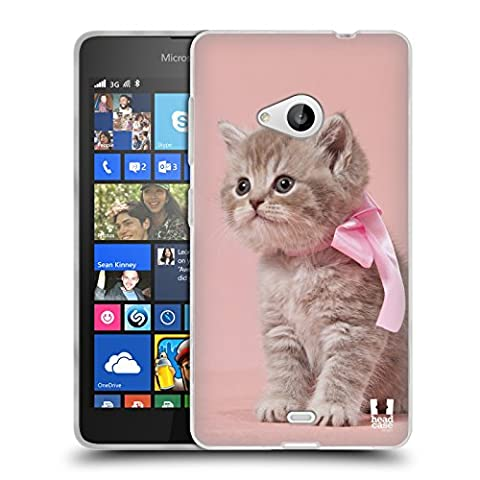 Nokia 535 Dual Sim - Head Case Designs Chaton Avec Arc Rose