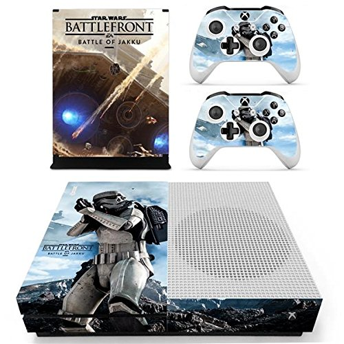 XBox One Slim + 2 Controller Aufkleber Schutzfolien Set - Star Wars Battlefront /One S