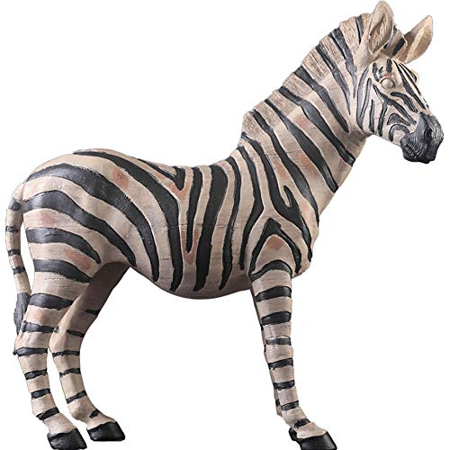(LPRWEC Harz Kreative Skulptur Nordic Zebra handgemachte Statue Heim Wohnzimmer Bürodekor-Raum-Kabinett Handwerk Kunst Ornamente Retro Dekorative Skulptur Durable Skulptur Geschenk)