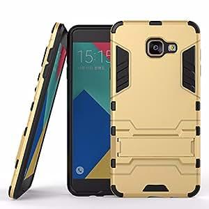 MoCa(TM) For Samsung Galaxy A710 / A7 (2016) Case [GOLD] Hybrid High Impact [[Shock Absorption]] Dual Layer Armor [Defender] Back Case Cover For Samsung Galaxy A710 / Galaxy A7 [2016 Edition] Armour Defender Back Cover Case