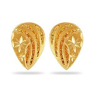 Joyalukkas Zenina Collection 22K Yellow Gold Earrings