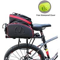 SAVA Multifunción Portátil para Asiento Trasero de Bicicleta Asiento Posterior del Tronco Bolsa Bolso de hombro