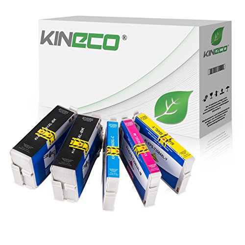 Preisvergleich Produktbild 5 Kineco Tintenpatronen kompatibel zu Epson 35 T3581-T3584 für Epson Workforce Pro WF-4720DWF WF-4725DWF WF-4730DTWF WF-4735DTWF WF-4740DTWF