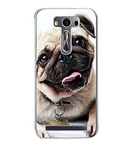 Cute Dog 2D Hard Polycarbonate Designer Back Case Cover for Asus Zenfone 2 Laser ZE500KL (5 INCHES)