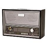 trendaffe Retro Radio Spardose in schwarz - Vintage Radio Sparbüchse Sparschwein