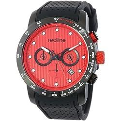 Red Line Velocity Herren 43mm Chronograph Kautschuk Armband Uhr 50044-BB-05-BK