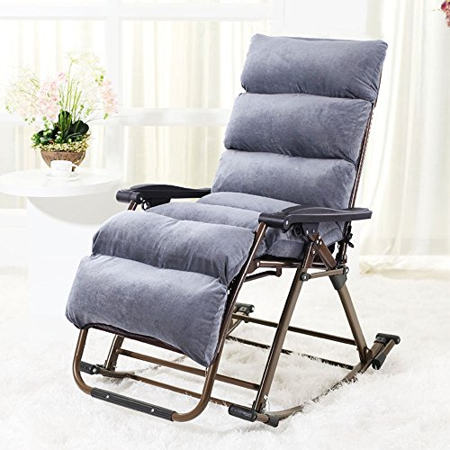 Brisk- Schaukelstuhl Recliners Balkon Stuhl Falten Mittagspause Wicker Stuhl Casual Swing Stuhl Für Ältere Menschen (Farbe : 1004) -