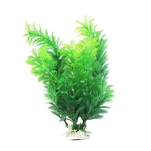 1X Toruiwa Aquarium Dekoration Künstliche Pflanzen Blume Aquarium Wasserpflanzen Aquariumpflanzen Grün (A)