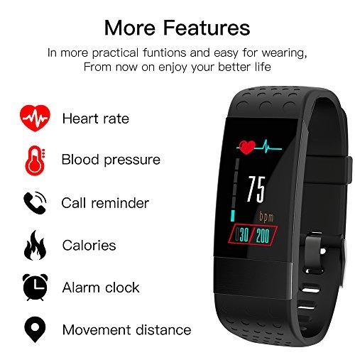 Keptfit Fitness Tracker-Bluetooth Aktivität Armbandes, Smart-Armband mit Herzfrequenz Blutdruckmessgerät, Wasserdicht IP67Schrittzähler Colorful Bildschirm Smart Watch