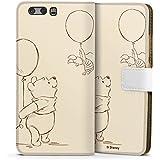 Huawei P10 Tasche Leder Flip Case Hülle Disney Winnie Puuh & Ferkel Merchandise Fanartikel