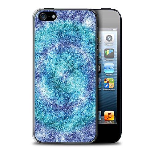 Stuff4 Hülle / Case für Apple iPhone SE / Zusammenfassung Glas Muster / Teal Mode Kollektion Bokeh/Funkeln/Fokus
