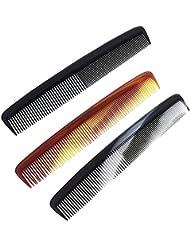 Herrenkamm Kamm für schonendes Haare kämmen, Kosmetex Set, 3er Set