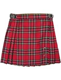 Glen Appin Kilt/falda escocesa plisada para niñas - Royal Stewart - Estilo clásico, color rojo
