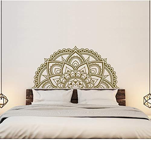 Master Schlafzimmer Wand Dekor halb Mandala Auto Aufkleber halb Mandala Fenster Aufkleber Boho Hippie Zen Yoga Indien 87 x 42 cm ()