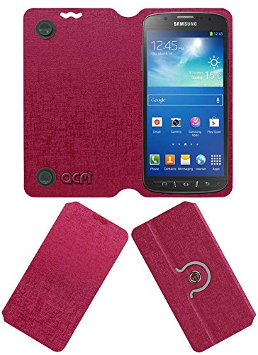 Acm Designer Rotating Flip Flap Case for Samsung Galaxy S4 Active I9295 Mobile Cover Pink  available at amazon for Rs.399