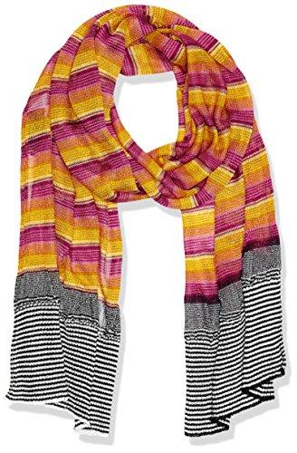 MISSONI Sciarpa da Donna, Multicolore (Rosa/Arancione), Taglia unica