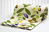#9: AURAVE Multicolor Green Flower Pattern Reversible 1 Pc Cotton Duvet Cover/Quilt Cover/Blanket Cover - Single Size (with Zipper)