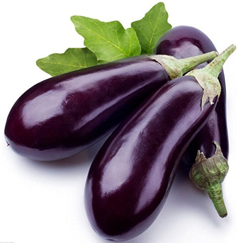 30seeds Long Black Violet Aubergine Melongena DŽlicieux Vegetable Seeds