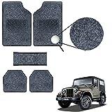 #9: Vheelocityin Black Carpet Style Mahindra Thar Car Foot mat / Black Car Floor Mat for Mahindra Thar
