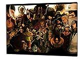 Anime One Piece, Format: 120x80 Bild auf Leinwand gespannt, Leinwandbild, 1A Qualität zu 100% Made in Germany! Kein Poster Kein Plakat! Echtholzrahmen mit beigelieferten Zackenaufhängern. Fertig bespannt, Sofort dekorieren. Vier verschiedene Formate.