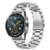 TRUMiRR 22mm Correa de Reloj de Acero Inoxidable Correa de liberación rápida para Samsung Gear S3 Classic/Frontier, Moto 360 2 46mm, Pebble Time/Acero, ASUS ZenWatch 1 2 Hombres, LG G Watch Urban