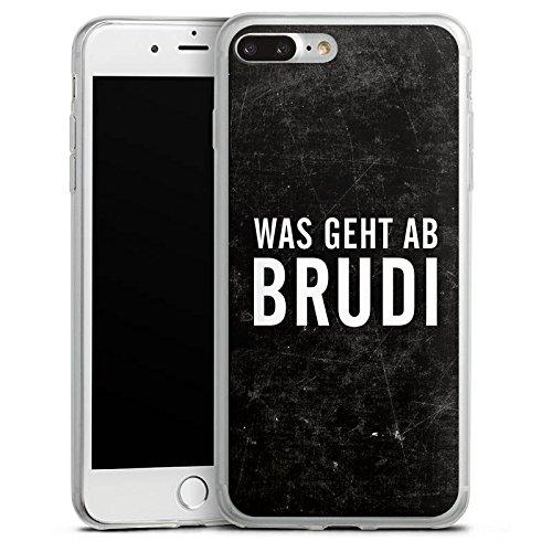 Apple iPhone X Slim Case Silikon Hülle Schutzhülle Brudi Sprüche Spruch Silikon Slim Case transparent
