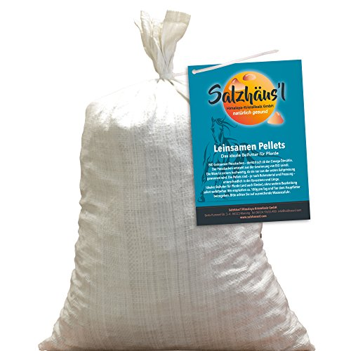 Bio Leinsamen Pellets tagesfrisch gepresst 10 kg/Ölmühle Omega/Pferde-Leckerli/Momentan Keine Lieferung ins Ausland! (Pferde Leinsamen Für)