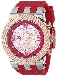 Mulco MW5-2365-063 - Reloj de pulsera unisex, Silicona, color Rojo