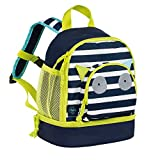 Lässig Mini Backpack Kindergartenrucksack Kindergartentasche, Little Monsters Bouncing Bob, Türkis Kinder-Rucksack, 27 cm
