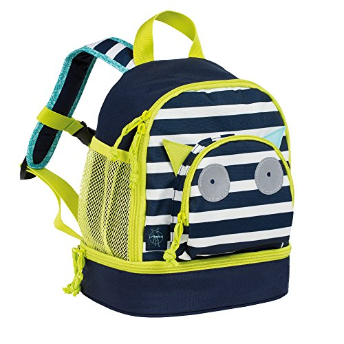 LÄSSIG Kinderrucksack Kindergartentasche mit Brustgurt/Mini Backpack Little Monsters Bouncing Bob