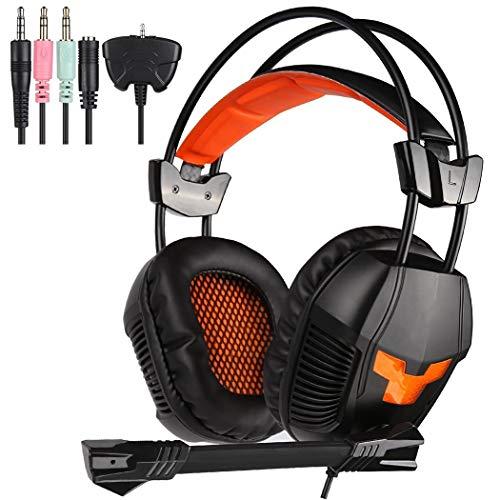 RYRYBH Computerspiele-Esports-Headset, Unterstützung für den Transfer PC, Mac, PS4, Xbox One, 50mm Neodym-Eisen-Hochmagnetlautsprecher, niedriger Frequenzbereich der High School Headset (Eisen-transfers)