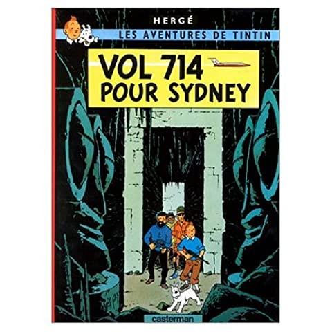 Les Aventures de Tintin / Vol 714 pour Sydney (French edition of Flight 714) / Book and DVD Package