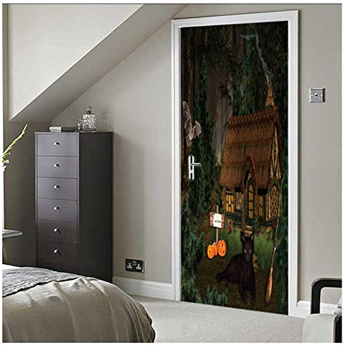 77x200 cm Selva Lodge Pegatinas extraíbles de la puerta calcomanías de puerta autoadhesiva puerta Mural decoración fiesta