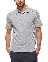 Polo Shirt Merino Herren heather grey