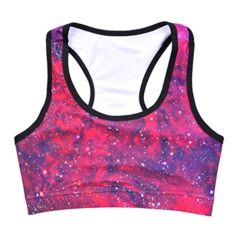 Qualilty Professional Printing yoga sports bra Wirefree Workout Sports Bra Top Quick Dry Breathable Bras Red S