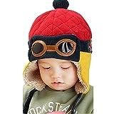 LuckyGirls Mütze Jungen Winter warme Hut Beanie Pilot häkeln Earflap Hüte (rot)
