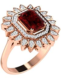 His & Her Gold, Diamond And Ruby Ring For Women