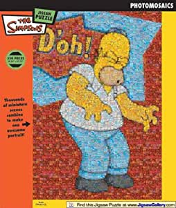 The Simpson's - Homer D'oh! Photomosaic Jigsaw Puzzle 550pc