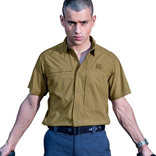 Free Soldier Outdoor Herren Kurze Ärmel Polo T-Shirt Cordura Gewebe Schnell trocknend shi