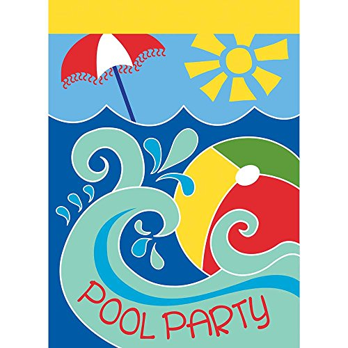 Magnolia Garden Pool Party Beach Ball Wellen Blau 13x 18Eckig Kleinen Garten Flagge -