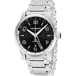 Montblanc Timewalker Voyager Black Dial Stainless Steel Mens Watch 109135